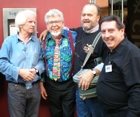 Ronan O'Rahilly, (Founder of Radio Caroline), 				Rolf (Tie Me Kangaroo Down) Harris, Meself & Graham Webb from Sunshine Radio in 				Australia